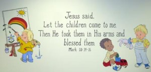christian-preschool-wall-mural-21412476