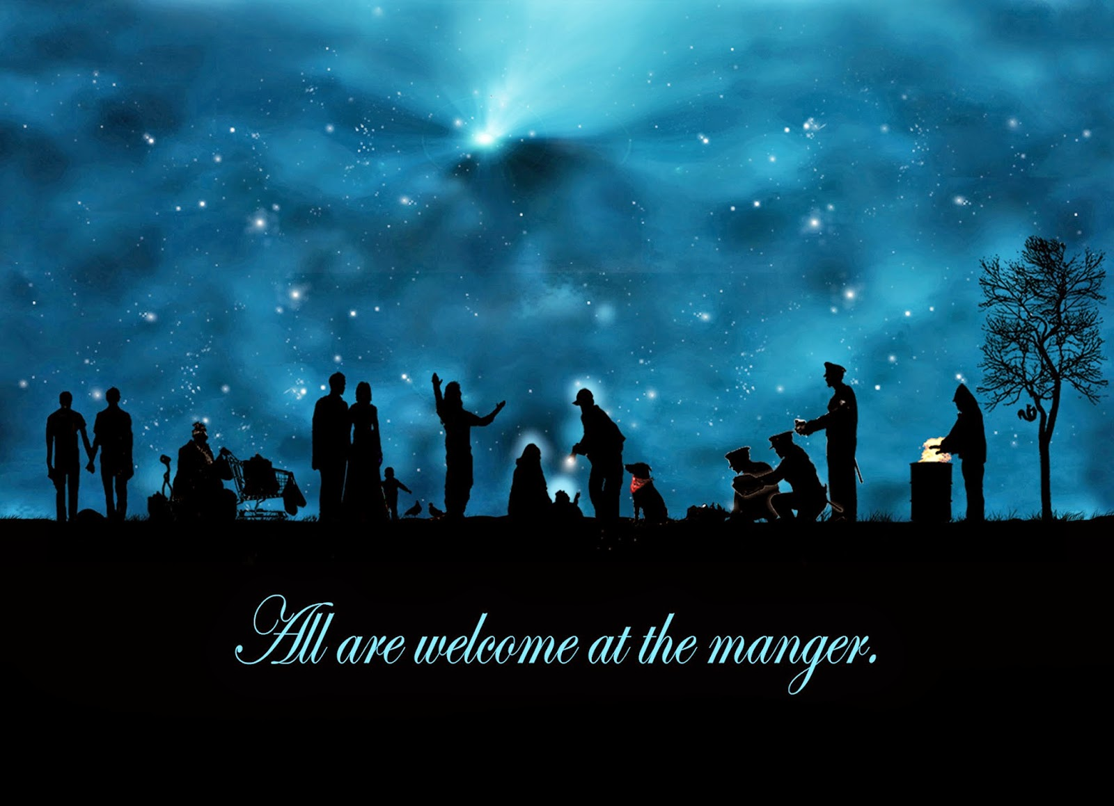welcome to the manger